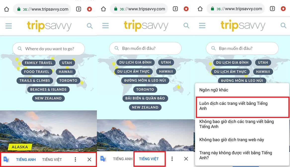 Bật translate Google Chrome từ điện thoại