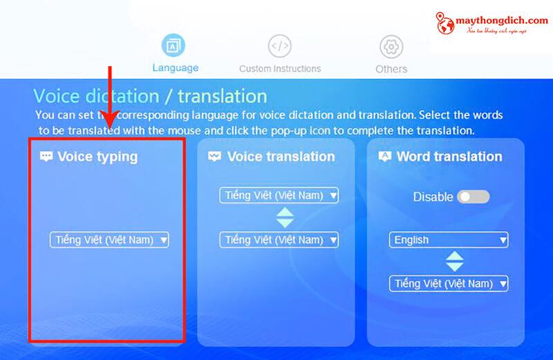 Tính năng voice typing