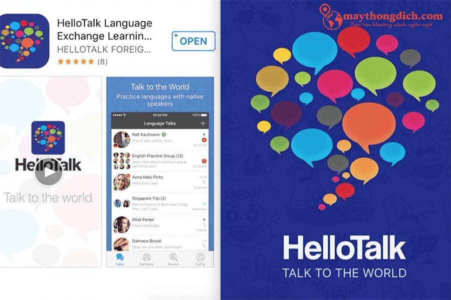 Hello talk giúp kết bạn học ngôn ngữ