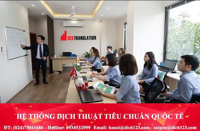 Văn phòng dịch thuật 123