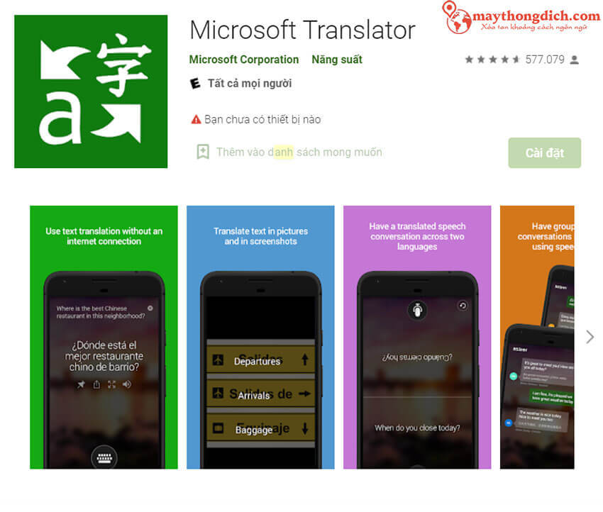 phần mềm microsoft translate