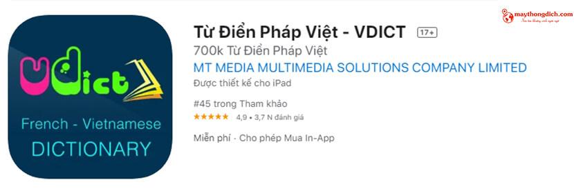 app dịch thuật ngoại ngữ pháp cho thiết bị di động