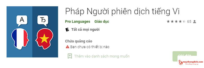 app dịch tiếng pháp sang tiếng việt chuẩn