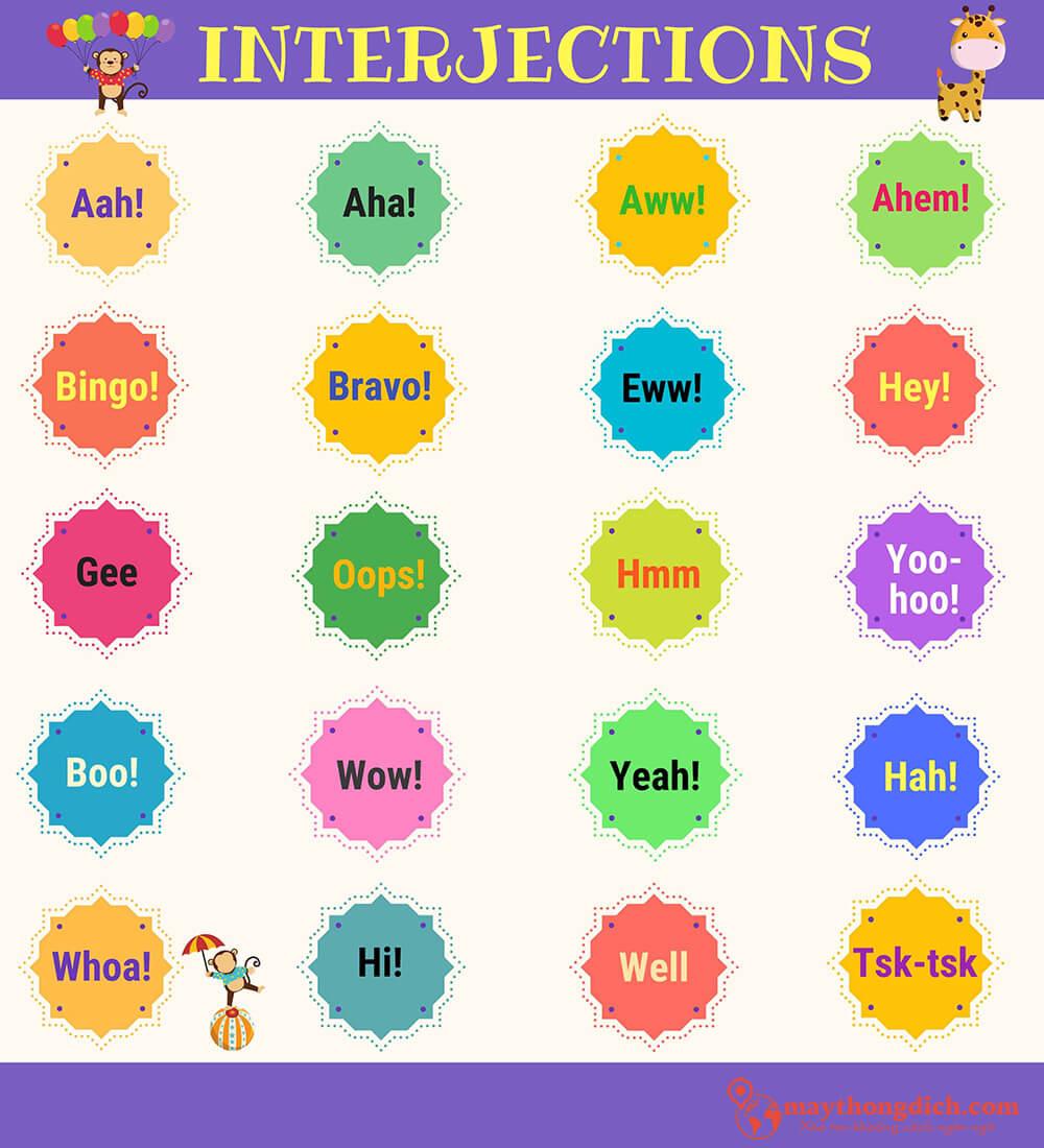 Các loại từ cảm thán trong tiếng Anh