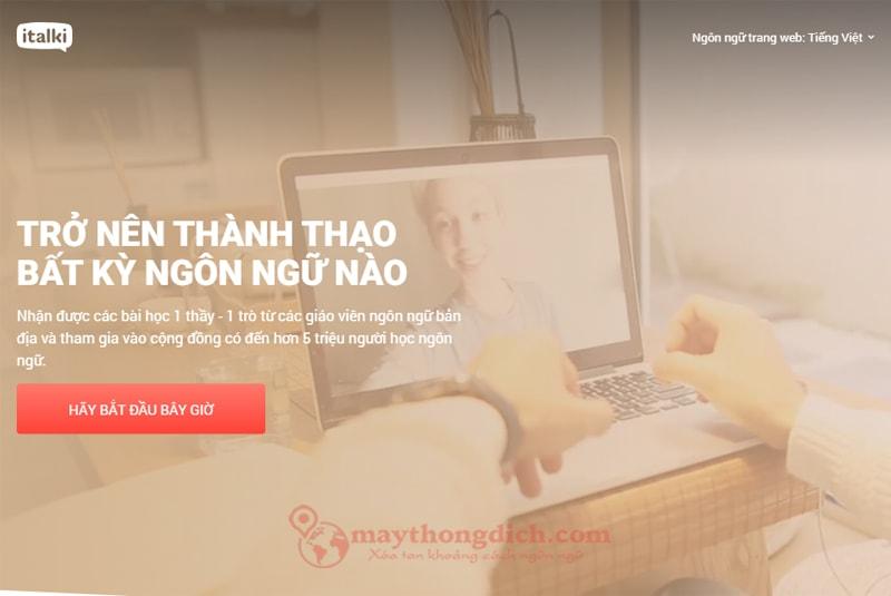 Trang Web Italki giúp bạn ọc tiếng anh giao tiếp online với người nước ngoài