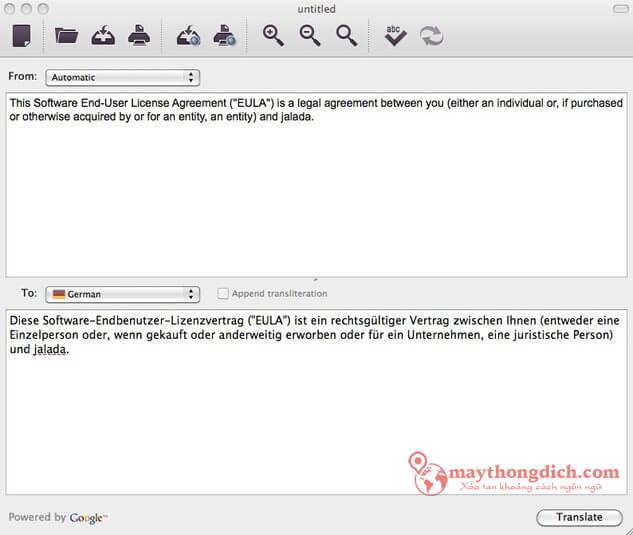 Phần mềm dịch tiếng Anh chuẩn xác nhất Just Translate