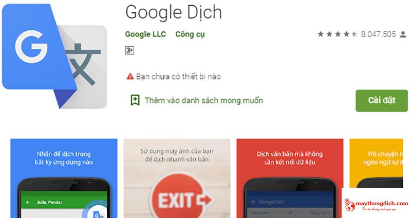 dịch ngôn ngữ google translate
