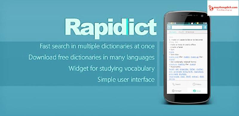 ứng dụng dịch ngôn ngữ nhật rapidict