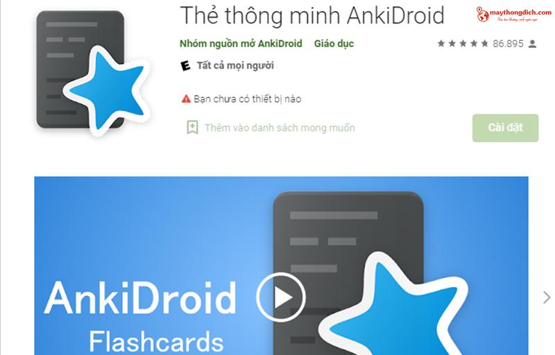 ứng dụng dịch tiếng nhật ankidroid