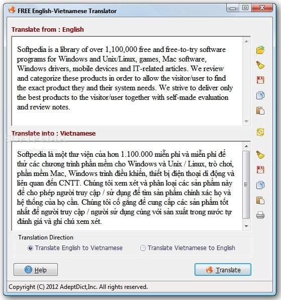 Phần mềm dịch tiếng Anh không cần kết nối internet
