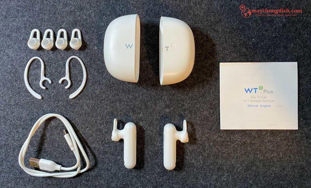 Trọn bộ phụ kiện tai nghe WT2 Plus
