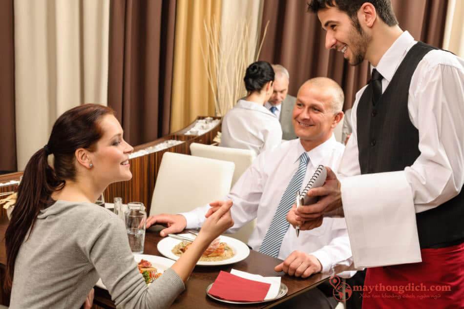 Tiếng Anh du lịch thông dụng khi gọi món ở nhà hàng