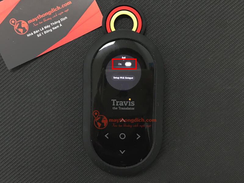 Bật On để kích hoạt wifi hotspot