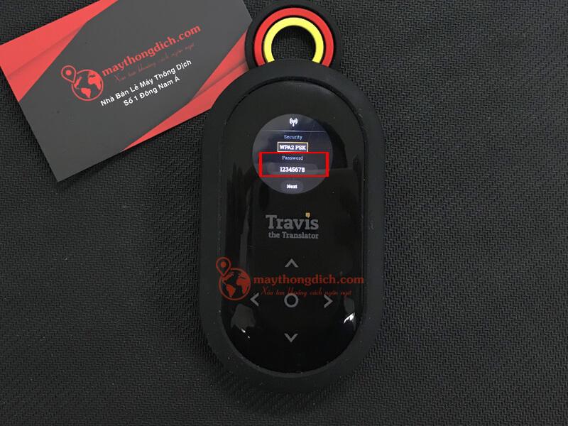 Đặt mật khẩu cho wifi hotspot để sử dụng travis one