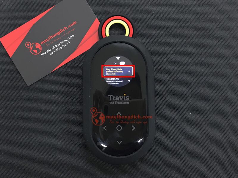 Kết nối Wifi thành công có thể bắt đầu sử dụng travis one