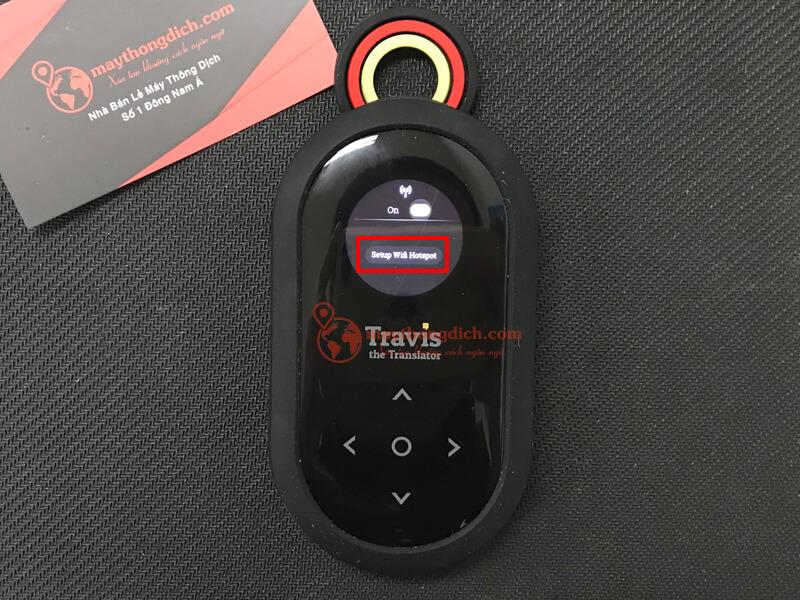 Chọn setup wifi hotspot để sử dụng travis one