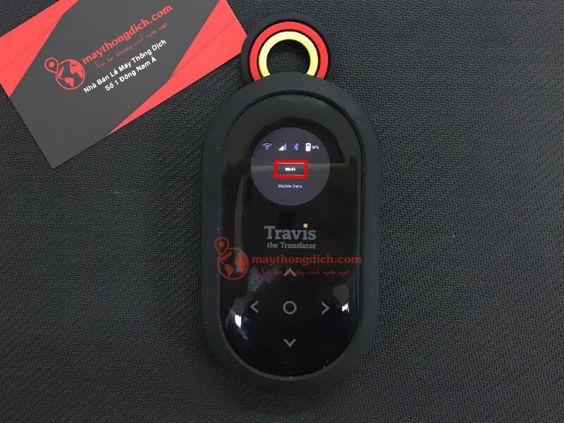 Nhấp vào biểu tượng wifi để sử dụng travis one