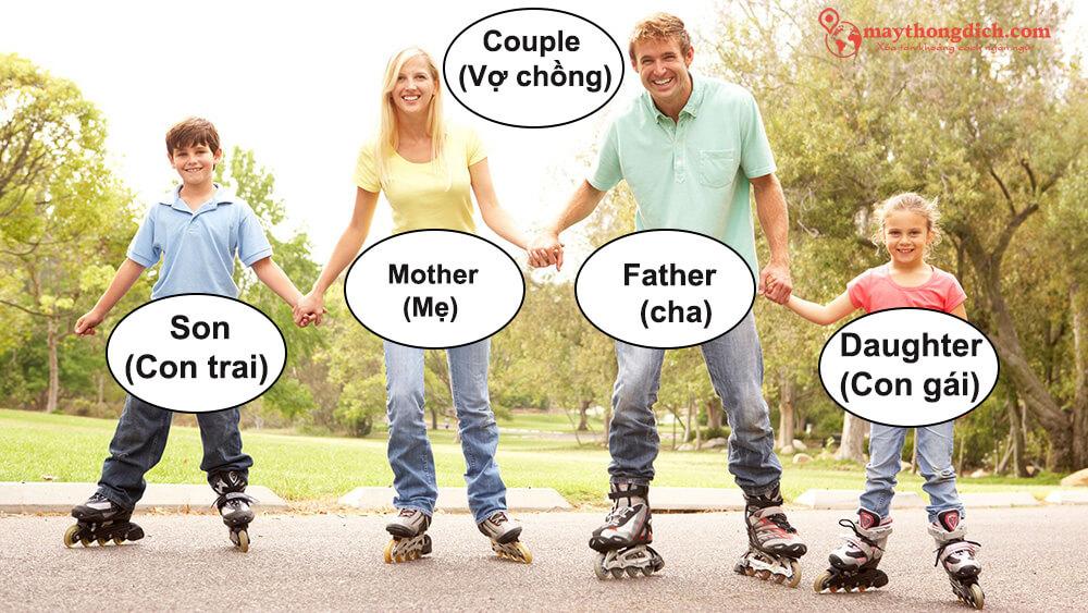 Từ vựng tiếng Anh về các thành viên trong gia đình