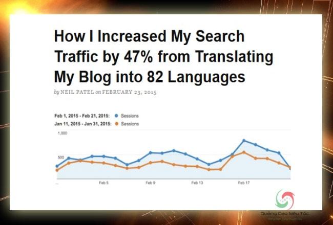 Website đa ngôn ngữ giúp tăng lượng traffic cho website
